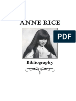 Anne Rice - Bibliography and Book Descriptions