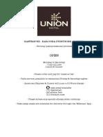 Union Menu Summer 2015 16