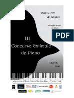 III Concurso de Piano