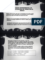 ACTIVIDAD de LABORATORIO 3 Identificacion de Iones en Suelo UNAM