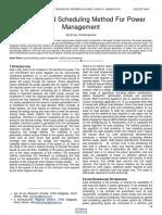 Efficient Load Scheduling Method for Power Management