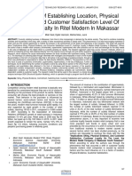 Mplications of Establishing Location Physical Evidence and Customer Satisfaction Level of Customer Loyalty in Ritel Modern in Makassar