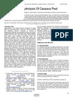 Acid Hydrolysis of Cassava Peel