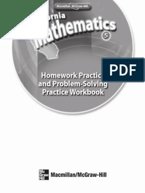 Homework Practice and Problem-Solving Practice Workbook: Pdf Pass
