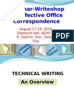 1 Technical Writing deped region seminar