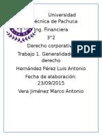 t1. Generalidades Del Derecho. Luis Antonio Hernandez Perez