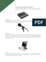 Peralatan Yang Diperlukan Dalam Penyiaran Radio