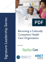 Becoming Culturally Competent Health Care Organization