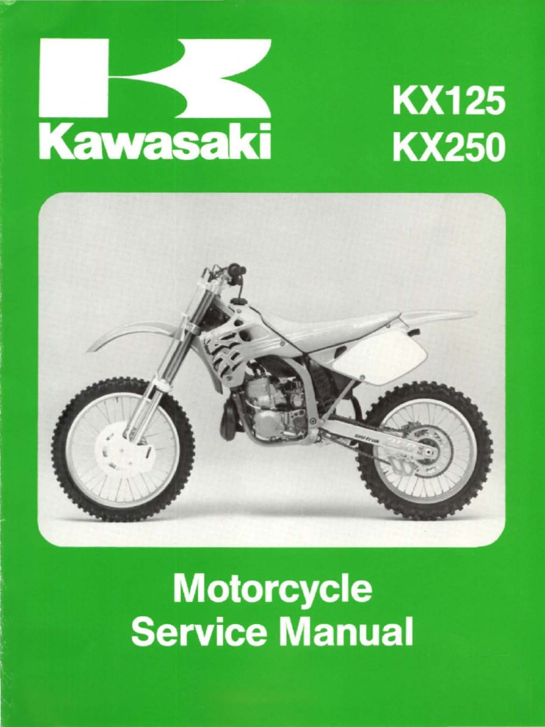 Kawasaki Kx125-Kx250 Manual de reparacion 1992-1993 | Carburetor |  Transmission (Mechanics)