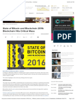 State of Bitcoin and Blockchain bitcoin2016