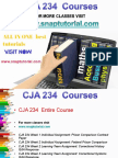 CJA 234 Proactive Tutors/snaptutorial