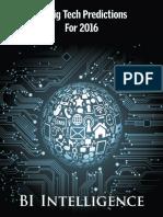 25 προβλέψεις σε 5 Τεχνολογικούς τομείς για το 2016