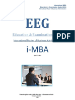 I-MBA Education and Examination Guide_Wittenborg University January 2014 - Vf
