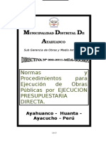 Directiva Ejecucion de Obra Mda-2011 Ok