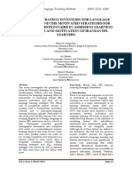 Applying Strategy Inventory for Language Learning and the Motivated Strategies for Learning Questionnaire in Assessing Learning Strategies and Motivation of Iranian Efl Learners