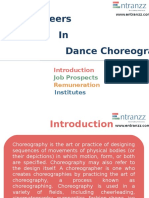 Carrers in Dance Choreography