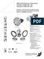 Pressure Transmitter Deltabar Pmd230 Pmd230 Endress Hauser