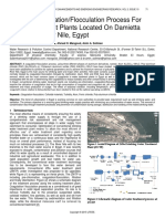 Optimal Coagulationflocculation Process for Water Treatment Plants Located on Damietta Branch of River Nile Egypt
