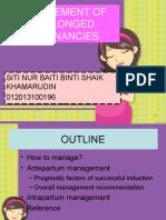 Managemant of Prolonged Pregnancies