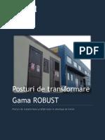 Anexa 2 - Posturi de Transformare Gama ROBUST