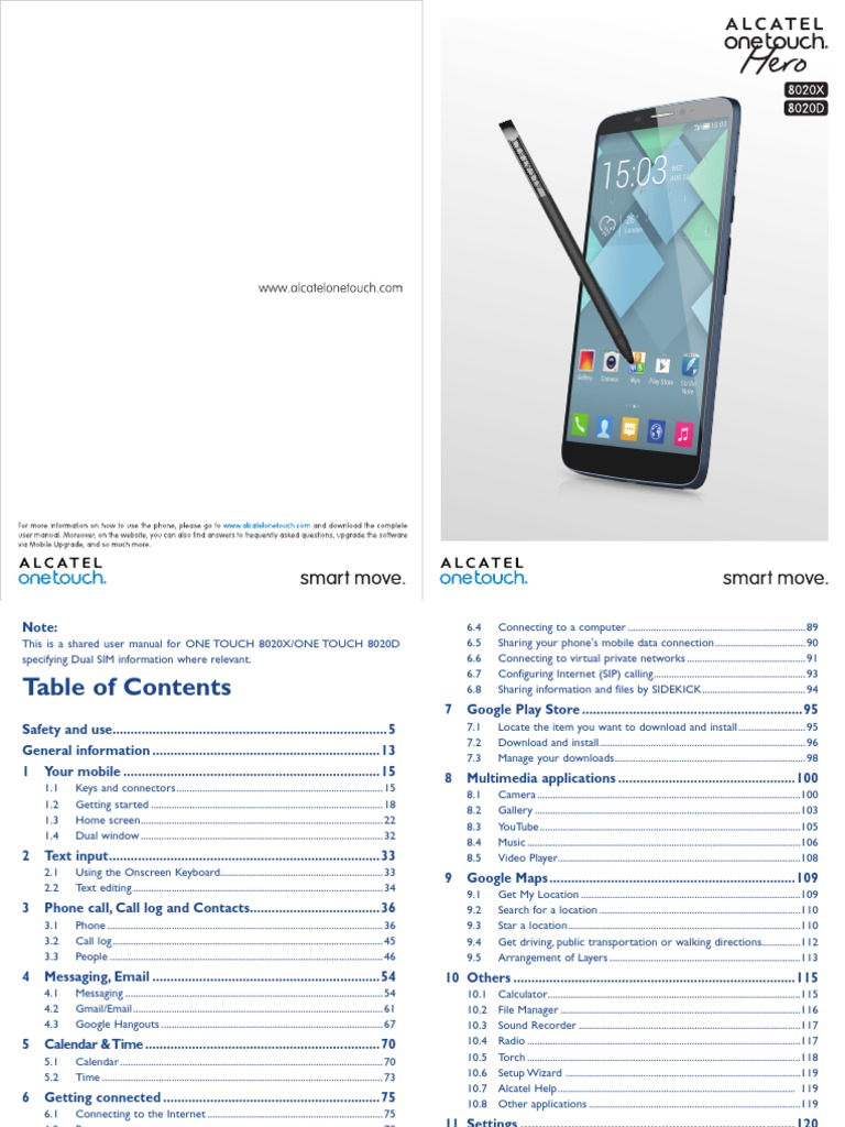 Alcatel OneTouch 8020 8020d User Manual English 2   Voicemail   Mobile  Phones