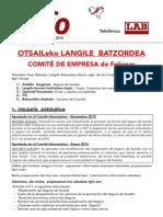 Langile Batzordea Otsaila 2016