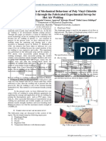 Experimental Analysis of Mechanical Behaviour of Poly Vinyl Chloride (PVC) Plastic Welded Through the Fabricated Experimental Set-up for Hot Air Welding