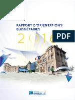 Rapport d'orientations budgétaire ville de Marseille 2016