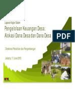 Slide Laporan Kajian Sistem Pengelolaan Keuangan Desa KPK