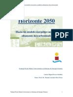 Horizonte 2050. Hacia un modelo energético andaluz  altamente descarbonizado