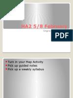 HA2 - 5, 8 February