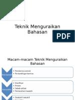 Teknik Menguraikan Bahasan