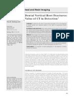 Dental Vertical Root Fractures 1999