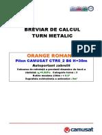 Breviar de Calcul Pilon CTR5-2 B6 30m 9mp 0.5kPa