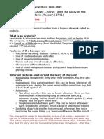 area of study 1 - handel mozart chopin