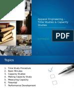 10. Apparel Engineering - Time Studies & Capacity Studies