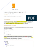 Implementing a simple smart pointer in c++.......CodeProject