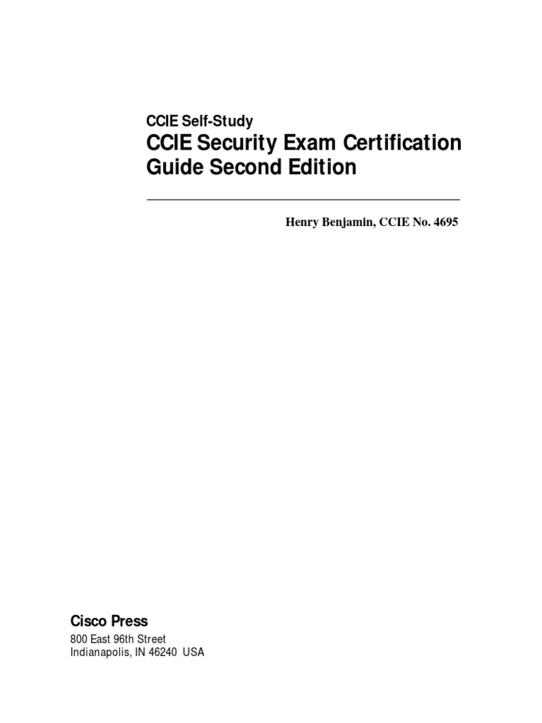 CCIE Sec Exam Certification Guide 2nd Ed | File Transfer