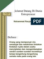 Selamat Datang Di Dunia Entrepreneur
