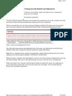 DDEC v Injectors Adjustment