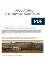 Agricultural History of Aus. - Teaching Portfolio