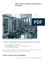Battery Types Used for Auxiliary Power Supply in Substations and Power Plants _ EEP