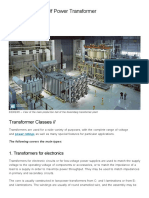 12 Main Classes of Power Transformer _ EEP