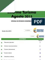 Informe Turismo Agosto 2015