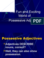 4A Possessive Adjective Notes