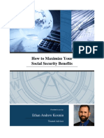 How to Maximize Social Security