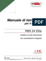 RADIANT Scheda Tecnica Caldaia RBS 24 ELITE