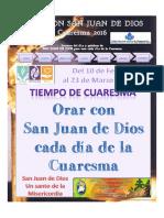 Orar con San Juan de Dios cada día de la Cuaresma