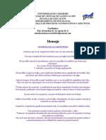 Material Nro. 1 Ser Humano Integral Bernardete de Agrela Octubre, 2014 DPCyA
