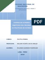 Objetivos Del Milenio - Politicas de Estado